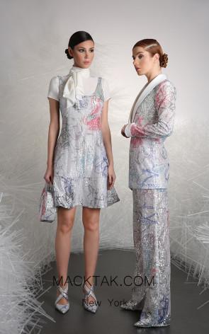 Tony Ward 9B Multi Front Evening Dress