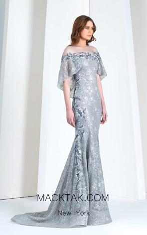 Tony Ward FW22 Gray Front Evening Dress