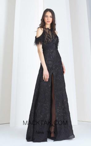 Tony Ward FW25 Black Front Evening Dress