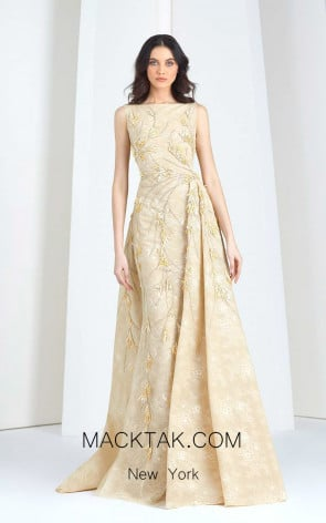 Tony Ward FW44 Yellow Front Evening Dress