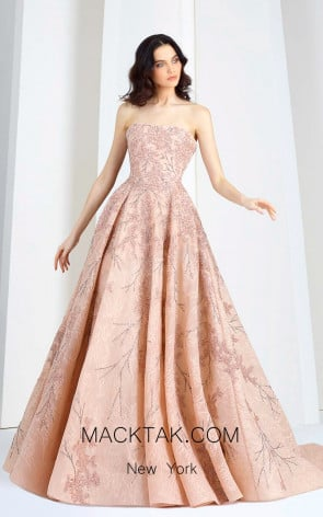 Tony Ward T11 Pink Front Evening Dress