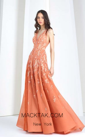 Tony Ward T31 Orange Front Evening Dress