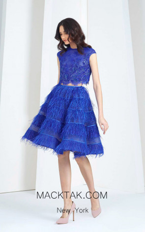 Tony Ward T35 Blue Front Evening Dress
