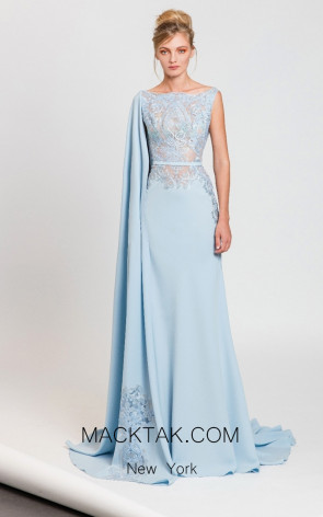 Tony Ward T41 Light Blue Front Evening Dress