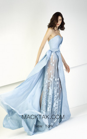 Tony Ward TW09 Blue Front Evening Dress