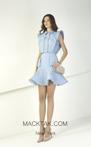 Tony Ward TW10 Blue Front Evening Dress