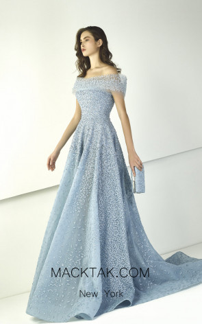 Tony Ward TW11 Blue Front Evening Dress