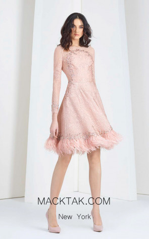 Tony Ward T12 Pink Front Evening Dress