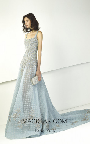 Tony Ward TW13 Blue Front Evening Dress