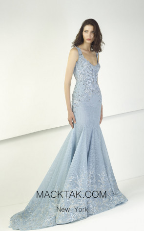 Tony Ward TW14 Blue Front Evening Dress