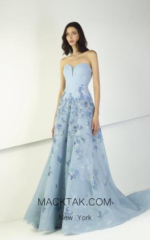 Tony Ward TW15 Blue Front Evening Dress
