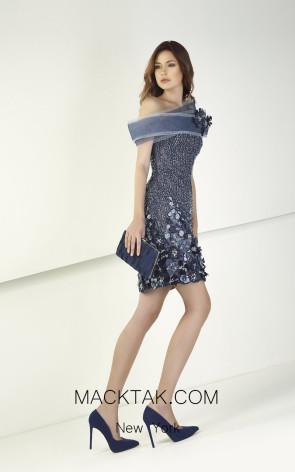 Tony Ward TW17 Blue Front Evening Dress