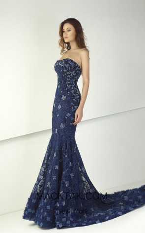 Tony Ward TW21 Blue Front Evening Dress