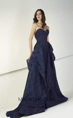 Tony Ward TW23 Blue Front Evening Dress