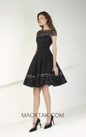 Tony Ward TW40 Black Front Evening Dress