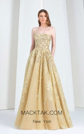 Tony Ward TW45 Yellow Front Evening Dress