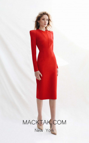 Victoria Janice Red Front Dress