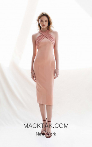 Victoria Jenna Salmon Front Dress