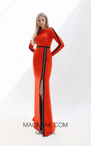 Victoria Jing Red Front Dress