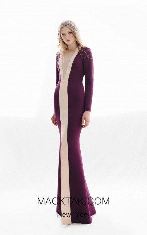 Victoria Johhan Dark_Purple Front Dress