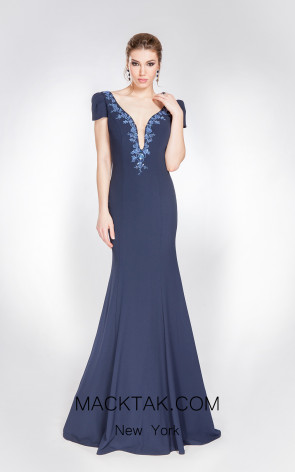 X & M Couture 49032 Front Evening Dress