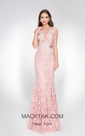 X & M Couture 49039 Rose Front Evening Dress