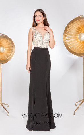 X & M Couture 49066 Front Evening Dress