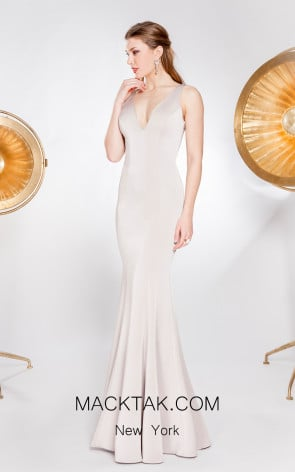X & M Couture 49077 Front Evening Dress