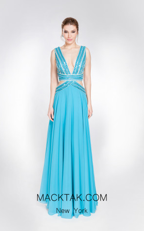 X & M Couture 49082 Front Evening Dress