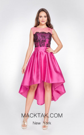 X & M Couture 7658 Front Evening Dress