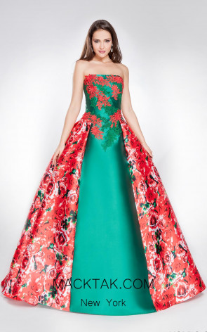 X & M Couture 8001 Front Evening Dress