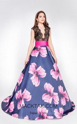 X & M Couture 8008 Front Evening Dress