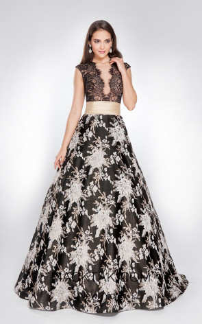 X & M Couture 8013 Front Evening Dress