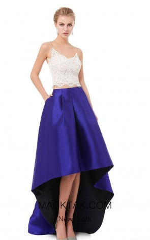 X & M Couture F6004 Front Evening Dress