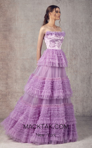 Ziad Germanos ZG8 Lilac Front Evening Dress