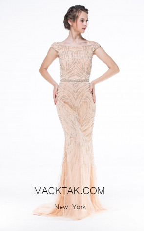 Long Off Shoulder Dress by Zorani New York 1538 Front Dress