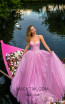 Tarik Ediz 50617 Pink Front Dress