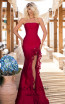 Tarik Ediz 50618 Red Front Dress