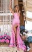 Tarik Ediz 50618 Pink Front Dress