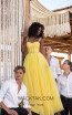 Tarik Ediz 50619 Yellow Front Dress