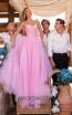 Tarik Ediz 50619 Pink Front Dress