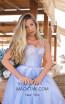Tarik Ediz 50619 Blue Front Dress