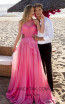 Tarik Ediz 50621 Coral Front Dress