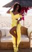 Tarik Ediz 50622 Yellow Front Dress