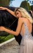 Tarik Ediz 50624 Stone Back Dress