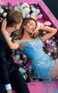 Tarik Ediz 50625 Blue Front Dress