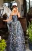 Tarik Ediz 50628 Silver Front Dress