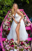 Tarik Ediz 50659 Ivory Front Dress