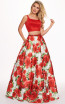 Rachel Allan 6589 Red Multi Front