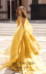 Tarik Ediz 93919 Yellow Back Dress